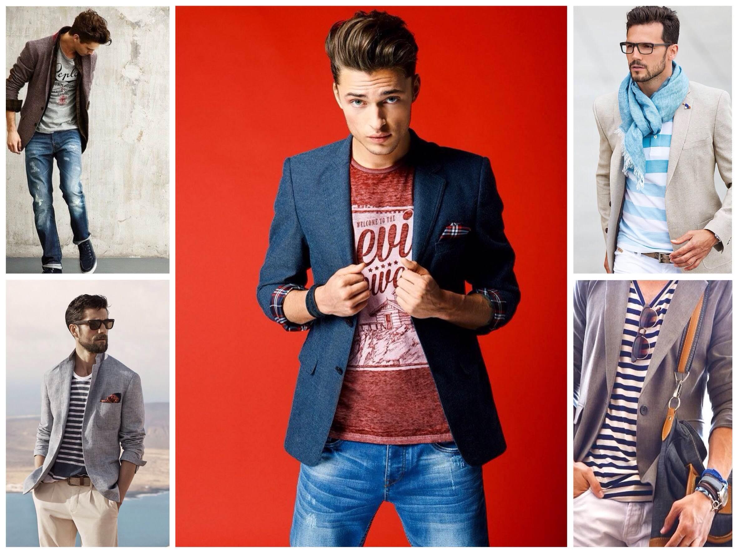 Сочетание пиджака с летним образом мужчины